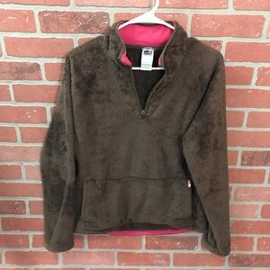 The North Face Fuzzy Quarter Zip Fuzzy Lg